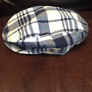 Newsboy cap cotton plaid lined NEW Size 2T-3